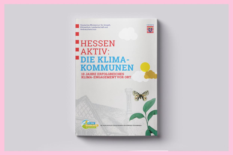 "Broschürencover ""Klimakommunen in Hessen"""