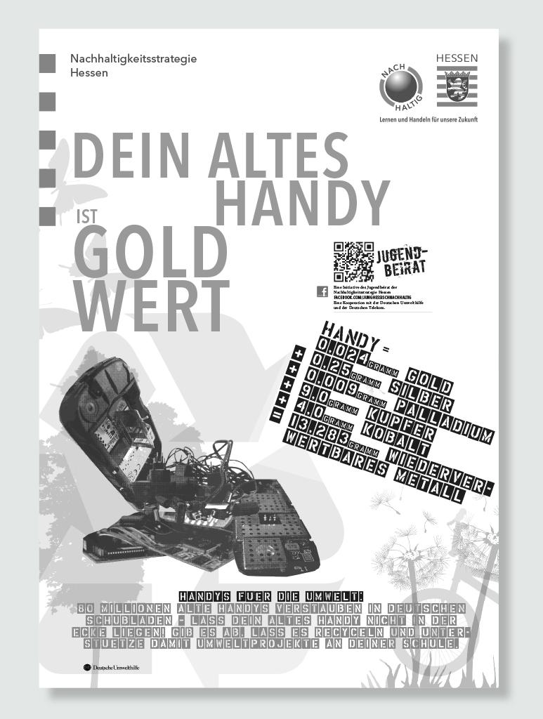 Info-Poster zu handy-Einsammelaktion