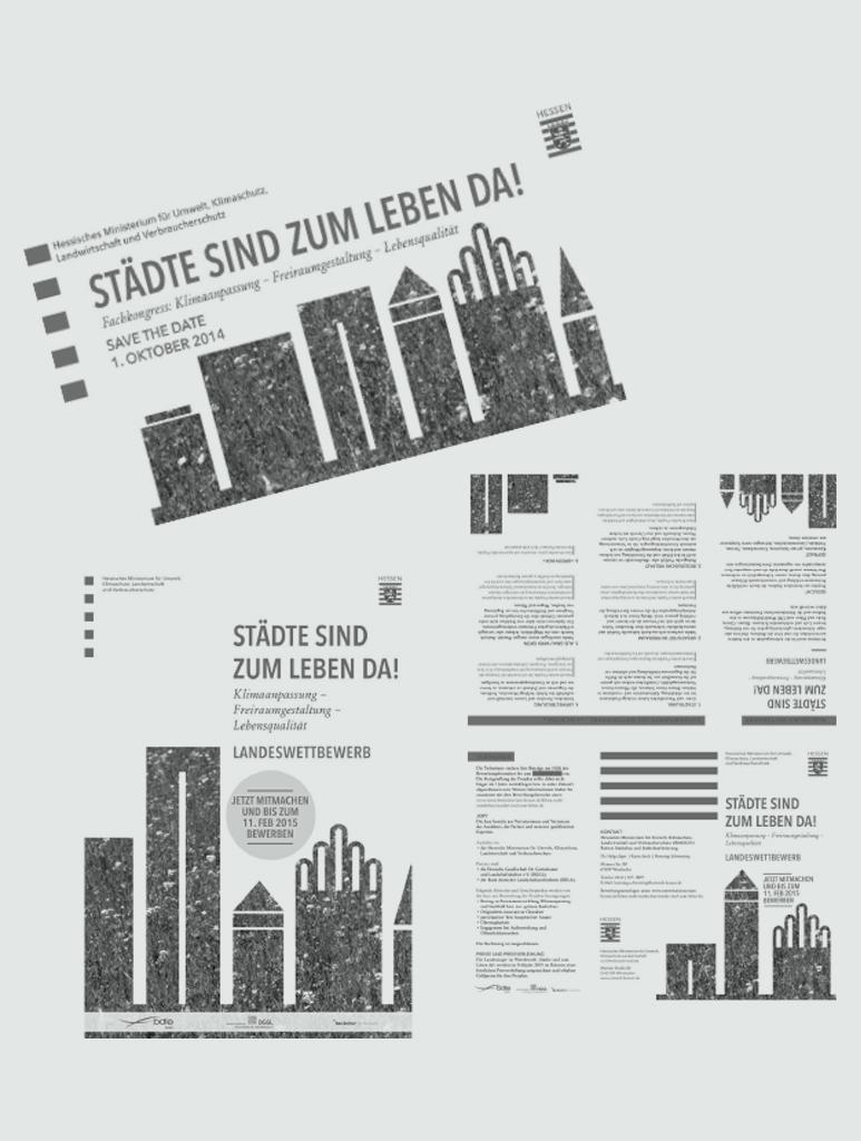 """Einladungs-Karte """"Städte sind zum Leben da"""""""