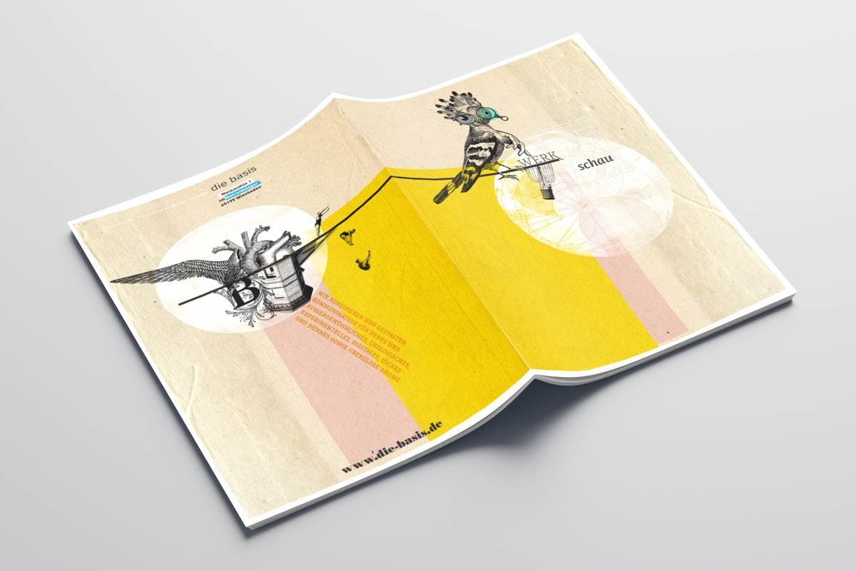 Broschüre 20 Jahre die basis | Ideenwerk. Kommunikation. Design.