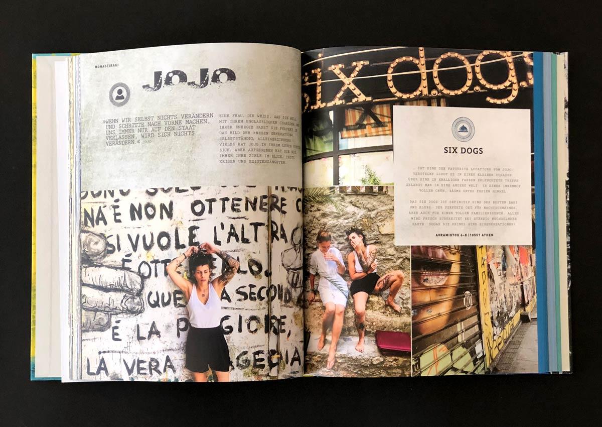 Athen – Das Kochbuch, Innenseiten