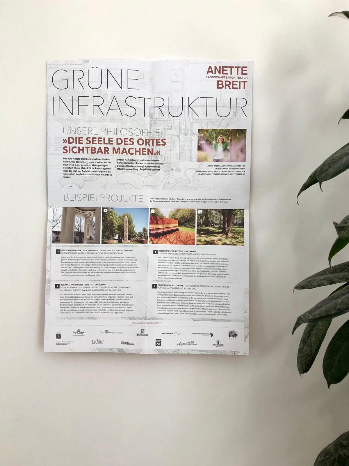 die basis_Poster Anette Breit Landschaftsarchitektur Rückseite